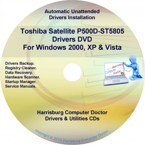 Toshiba Satellite P500D-ST580 Drivers Recovery CD/DVD