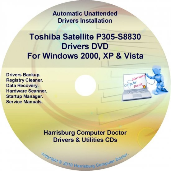 Toshiba Satellite P305-S8830 Drivers Recovery CD/DVD