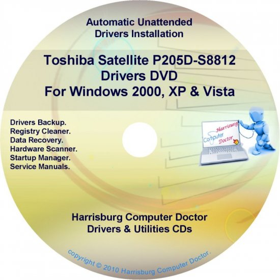 Toshiba Satellite P205D-S8812 Drivers Recovery CD/DVD