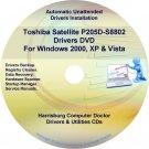 Toshiba Satellite P205D-S8802 Drivers Recovery CD/DVD