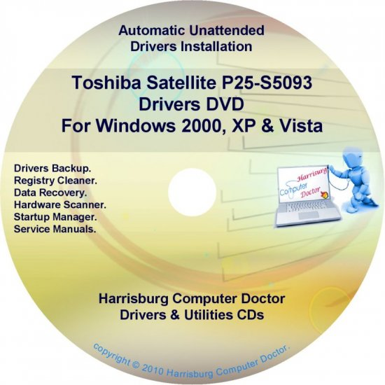 Toshiba Satellite P25-S5093 Drivers Recovery CD/DVD