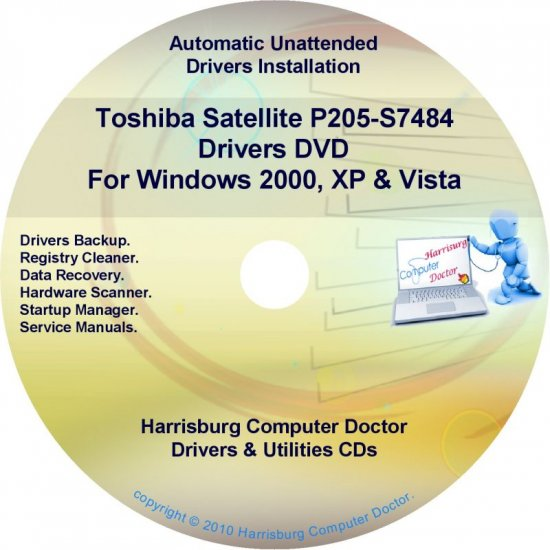 Toshiba Satellite P205-S7484 Drivers Recovery CD/DVD