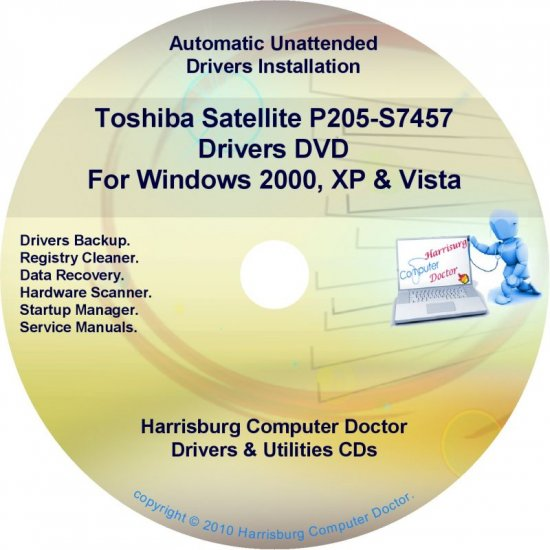 Toshiba Satellite P205-S7457 Drivers Recovery CD/DVD