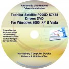 Toshiba Satellite P205D-S7438 Drivers Recovery CD/DVD