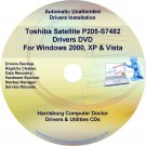 Toshiba Satellite P205-S7482 Drivers Recovery CD/DVD