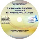 Toshiba Satellite P105-S9722 Drivers Recovery CD/DVD