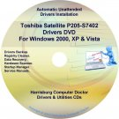 Toshiba Satellite P205-S7402 Drivers Recovery CD/DVD