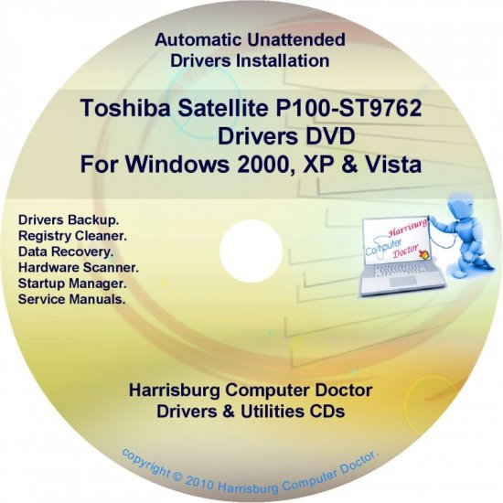 Toshiba Satellite P100-ST9762 Drivers Recovery CD/DVD