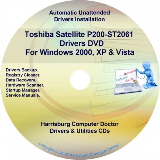 Toshiba Satellite P200-ST2061 Drivers Recovery CD/DVD