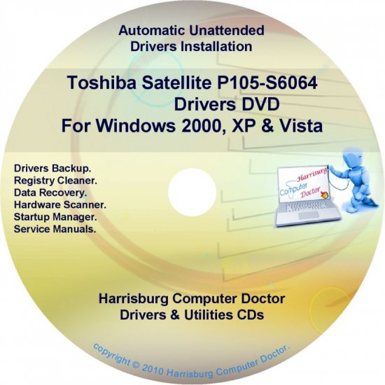 Toshiba Satellite P105-S6064 Drivers Recovery CD/DVD