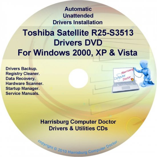 Toshiba Satellite R25-S3513 Drivers Recovery CD/DVD