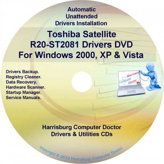Toshiba Satellite R20-ST2081 Drivers CD/DVD
