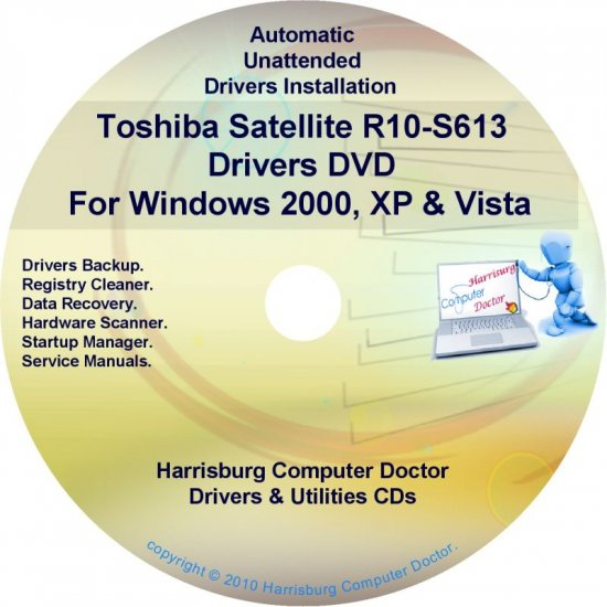Toshiba Satellite R10-S613 Drivers Recovery CD/DVD