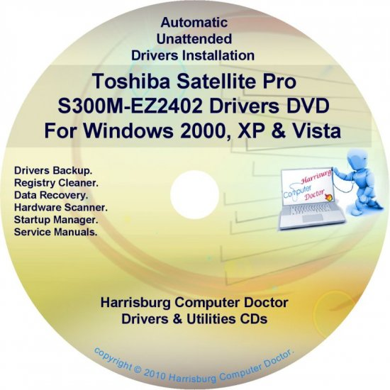 Toshiba Satellite Pro S300M-EZ2402 Drivers CD/DVD