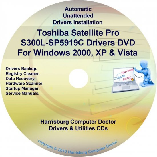 Toshiba Satellite Pro S300L-SP5919C Drivers CD/DVD