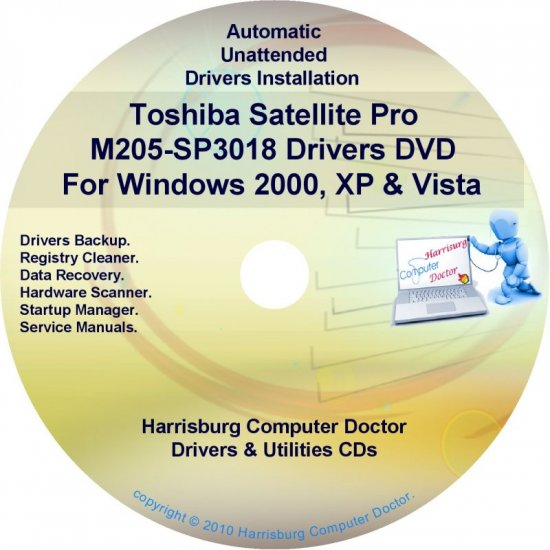 Toshiba Satellite Pro M205-SP3018 Drivers CD/DVD