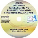 Toshiba Satellite Pro L350-S1701 Drivers CD/DVD