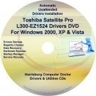 Toshiba Satellite Pro L300-EZ1524 Drivers CD/DVD