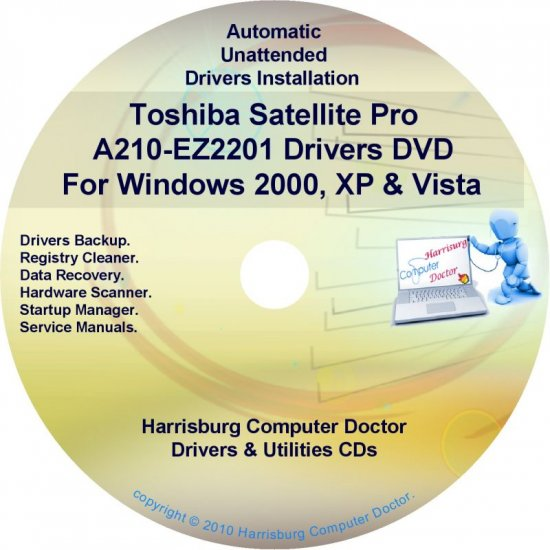 Toshiba Satellite Pro A210-EZ2201 Drivers CD/DVD