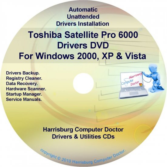 Toshiba Satellite Pro 6000 Drivers Recovery CD/DVD
