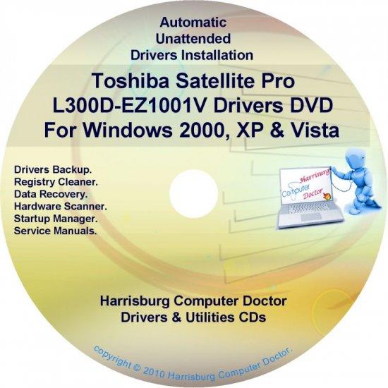 Toshiba Satellite Pro L300D-EZ1001V Drivers CD/DVD