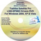 Toshiba Satellite Pro L300-SP5803 Drivers CD/DVD