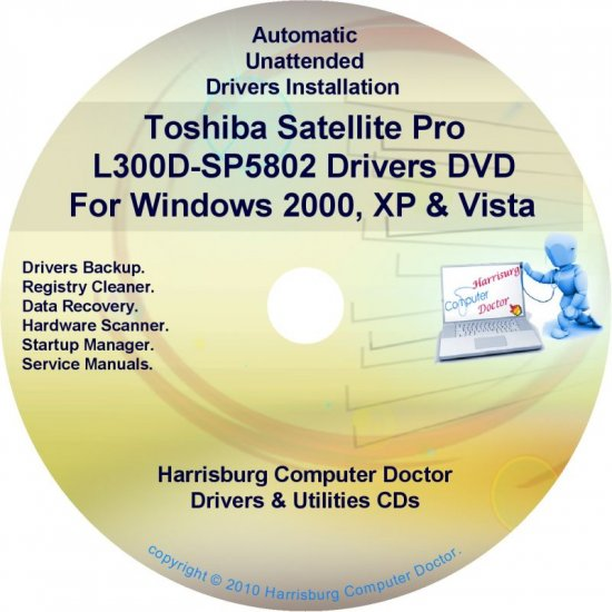 Toshiba Satellite Pro L300D-SP5802 Drivers CD/DVD