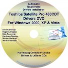 Toshiba Satellite Pro 480CDT Drivers Recovery CD/DVD