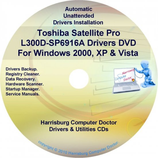 Toshiba Satellite Pro L300D-SP6916A Drivers CD/DVD