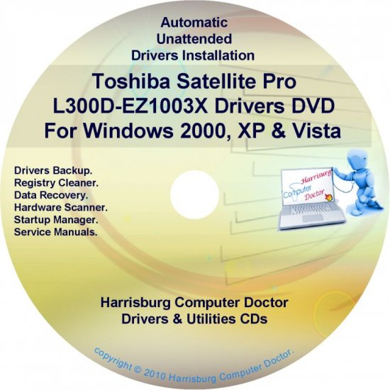 Toshiba Satellite Pro L300D-EZ1003X Drivers CD/DVD