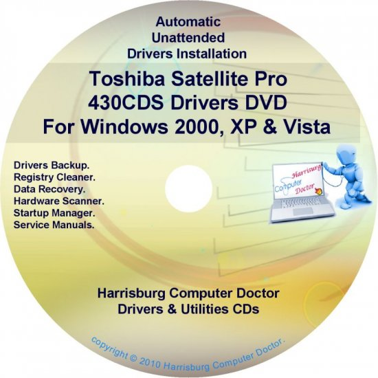 Toshiba Satellite Pro 430CDS Drivers Recovery CD/DVD