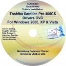 Toshiba Satellite Pro 405CS Drivers Recovery CD/DVD