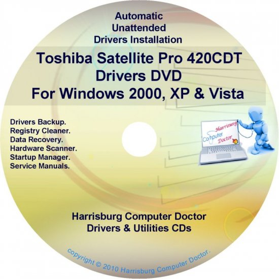 Toshiba Satellite Pro 420CDT Drivers Recovery CD/DVD