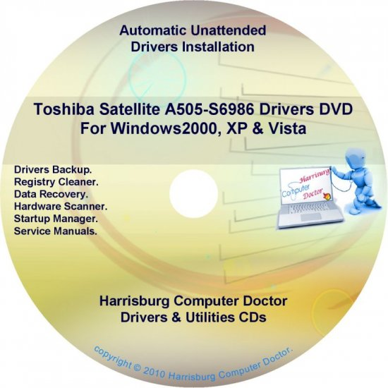 Toshiba Satellite  A505-S6986 Drivers Recovery CD/DVD