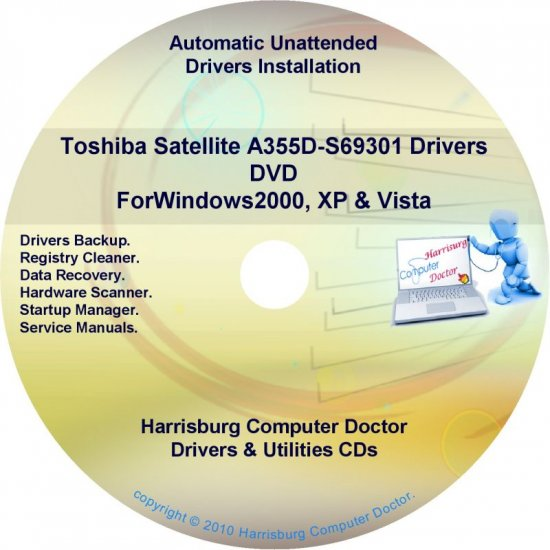 Toshiba Satellite  A355D-S69301  Drivers Recovery DVD