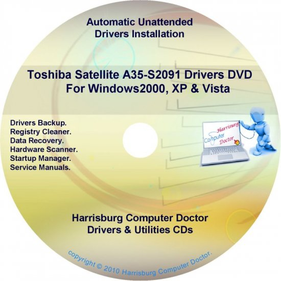 Toshiba Satellite  A35-S2091 Drivers Recovery CD/DVD