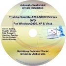 Toshiba Satellite  A205-S6812 Drivers Recovery CD/DVD