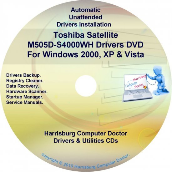 Toshiba Satellite M505D-S4000WH Drivers CD/DVD