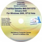 Toshiba Satellite M40-S4112TD Drivers Recovery CD/DVD