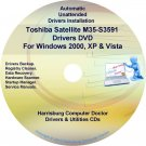 Toshiba Satellite M35-S3591 Drivers Recovery CD/DVD