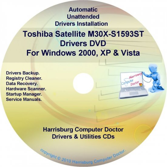 Toshiba Satellite M30X-S1593ST Drivers CD/DVD