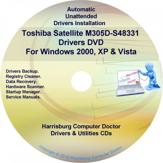 Toshiba Satellite M305D-S48331 Drivers CD/DVD