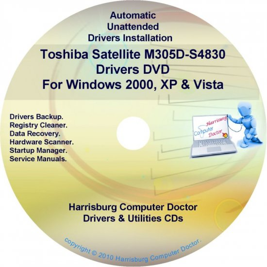 Toshiba Satellite M305D-S4830 Drivers Recovery CD/DVD