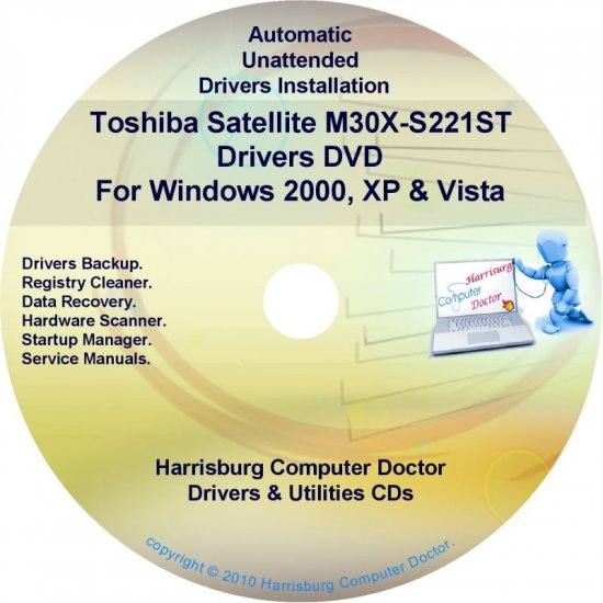 Toshiba Satellite M30X-S221ST Drivers Recovery CD/DVD