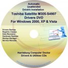Toshiba Satellite M305-S4907 Drivers Recovery CD/DVD