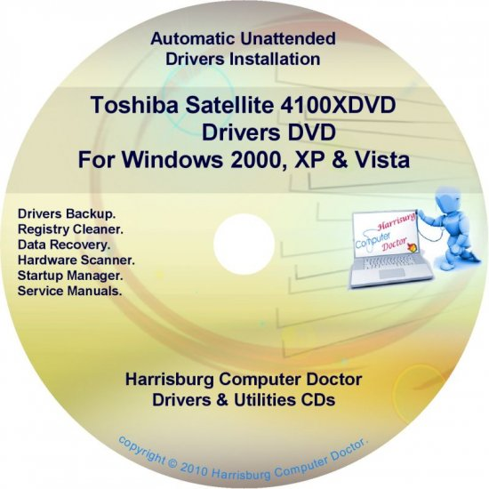 Toshiba Satellite 4100XDVD Drivers Recovery CD/DVD