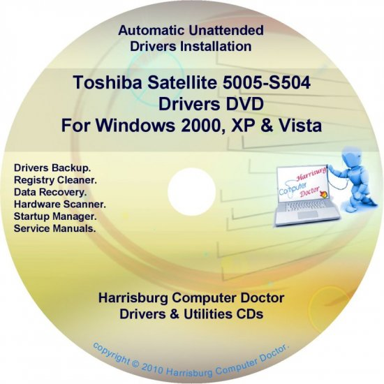 Toshiba Satellite 5005-S504 Drivers Recovery CD/DVD