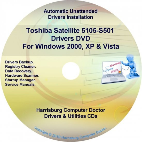 Toshiba Satellite 5105-S501 Drivers Recovery CD/DVD