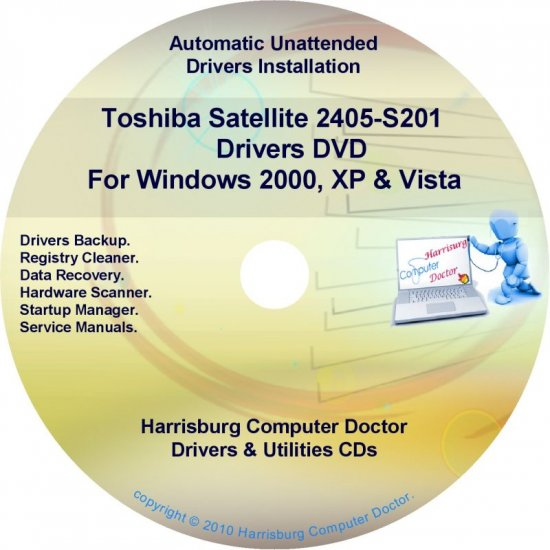 Toshiba Satellite 2405-S201 Drivers Recovery CD/DVD