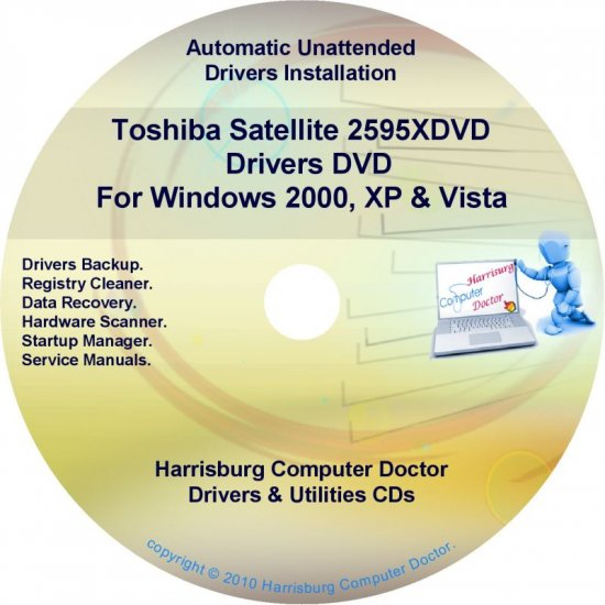 Toshiba Satellite 2595XDVD Drivers Recovery CD/DVD
